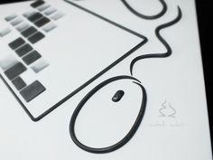 Mouse in ferro battuto