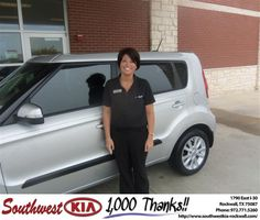 #HappyAnniversary to Sheena Cannon on your 2013 #Kia #Soul from Donald Weintraub at Southwest KIA Rockwall!