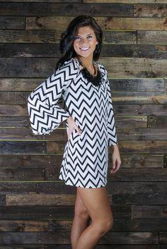 chevron dress-love the sleeves