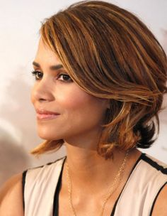 Side View of Halle Berry Short Bob Hairstyle