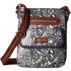 Sakroots Artist Circle Small Flap (Navy Spirit Desert) Cross Body... ($45) ❤ liked on Polyvore featuring bags, handbags, shoulder bags, white cross body purse, purse crossbody, handbags shoulder bags, white crossbody and white purse