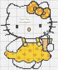 Hello Kitty drink perler bead pattern