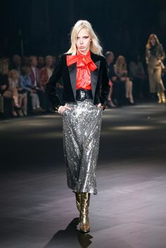 The Saint Laurent Show in Hollywood Was a Glam-Rock Masterpiece via @WhoWhatWear