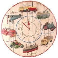 Boys room, vintage clock ~ now this is what I call a clock for the Planes, Trains & Automobiles theme. LOVE