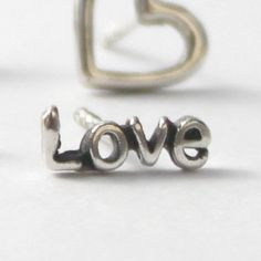 Single Earring  words and symbols Love Joy by HeartCoreDesign, $7.50