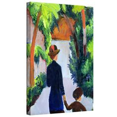 ArtWall 'Franz Marc's In The Rain' Gallery Wrapped Canvas