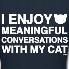 Conversations with my cat. #WhyILoveCats