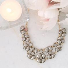 The prettiest piece to perk up your week 🌸🤗  #jewelry #necklace #pretty #preppy #statementnecklace #fashion #glam #bling #chic
