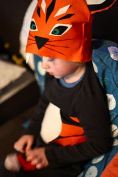 tiger costume: simple & sweet, stiched or glued with felt