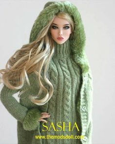 Lovely green sweater and hooded jacket