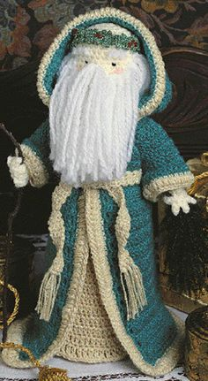 Father christmas crochet pattern|Father christmas patterns doll| - http://www.leisurearts.com/products/father-christmas-free-standing-crochet-doll-pattern-epattern.html