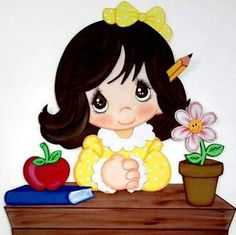MAESTRA ESPERANDO Foam Crafts, Diy And Crafts, Crafts For Kids, Paper Crafts, Teachers Day Gifts, Cute Eyes, Felt Fabric, Precious Moments, Cute Images