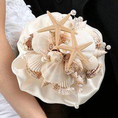 Sea Shell Bouquet For Beach Wedding Destination Wedding Brides Sea Shell Bouquet…