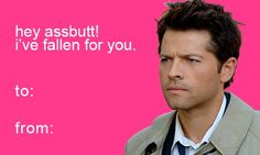Supernatural valentines card