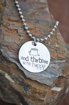 "Shel Silverstein The Giving Tree Jewelry~I also love when the ""tree shook with joy"""
