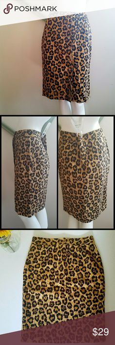 """Ralph Lauren Leopard Pencil Skirt NWT. Kaley Textured Leopard print. Black and tan/khaki color. Front pockets. Buttons down the front. Unlined. Logo on buttons. Pencil silhouette.   Measurements Length 23.5""""  Waist flat laying measurement 14""""    Measurements from Ralph Lauren Size chart Waist 26.5""""  Hips 37"""" Ralph Lauren Skirts Pencil"""