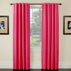 Hot pink curtains for $29!!! Tons of other colors too.