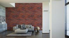 Architects Paper Fototapete Ziegel 5 (XXL) 470438; simuliert auf der Wand