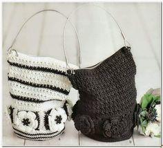 Tecendo Artes em Crochet: Bolsa Saco com Gráfico!