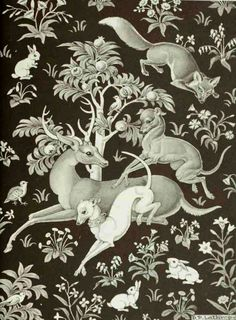 Lathrop wrote numerous books including The Dog in the Tapestry Garden (1942), the story of a lonely greyhound who jumps into a old tapestry to play with a pretty white dog woven into its garden.