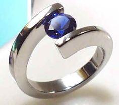 blue diamond wedding ring - Google Search