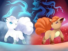 Alola Vulpix ❄ and Vulpix