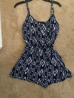 239cae5245c Extra Off Coupon So Cheap Forever 21 Romper Skort Western Print Blue Small