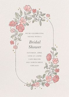 Showers and parties | Send online instantly | RSVP tracking Bridal Shower Invitations, Tool Design, Rsvp, Showers, Greeting Cards, Parties, Create, Inspiration, Weddings