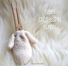 baby clothes pin bunny