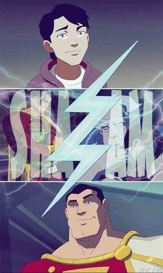 YJ Shazam! He's so cute! He's very funny as Captain Marvel. :]