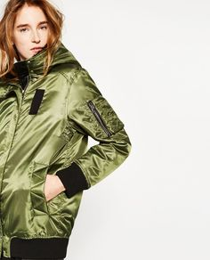 ZARA - WOMAN - LONG HOODED BOMBER JACKET
