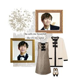 """When You Smile"" by hannah-music ❤ liked on Polyvore featuring Boutique Moschino, Miss Selfridge, Jimmy Choo, ootd, bts, bangtan, taehyung and KimTaehyung"