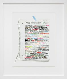Why You Shouldn't Buy Art. Print by William Powhida