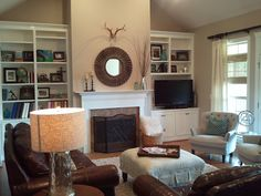 e-design before + after: family room, autumn clemons