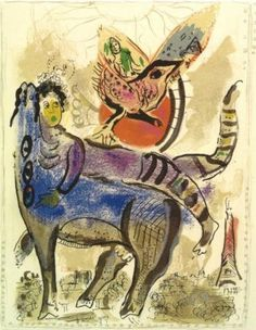 A blue cow - Marc Chagall