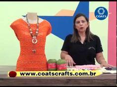 Blusa em quadradinhos de crochê - Cristina Amaduro - YouTube