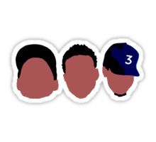 Chance The Rapper Mixtape Faces Sticker