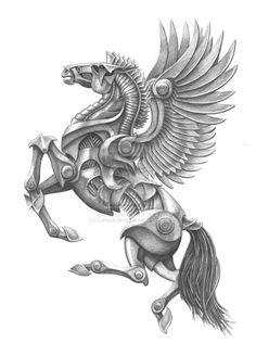 Image from http://th02.deviantart.net/fs70/PRE/i/2010/034/c/d/Mecha_Pegasus_by_Canuckdesz.jpg.
