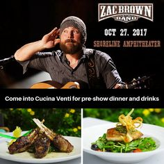 Zac Brown Band concert is tonight! It's not too late, make your reservations for pre-show dinner and drinks! https://www.opentable.com/r/cucina-venti-mountain-view