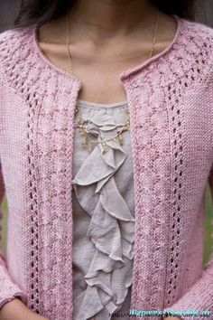 Alexandria Cardigan pattern by Connie Chang Chinchio – Knitted Sweater Bloğ Cardigan Pattern, Crochet Cardigan, Knit Crochet, Crochet Granny, Knitting Patterns Free, Knit Patterns, Hand Knitting, Knitting Daily, Pretty Patterns
