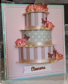 card torta tridimensionale