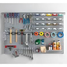 Platinum Elfa Utility Workshop Organizer Board | The Container Store