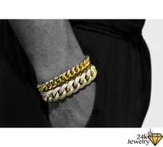The beautiful 15MM Iced Out Miami Cuban Link Bracelet and 9MM Miami Cuban Link…