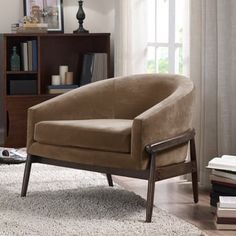 Shop for Cradle Club Chair Taupe Velvet. Get free shipping at Overstock.com - Your Online Furniture Outlet Store! Get 5% in rewards with Club O! - 20763651
