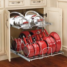 Great way to utilize deep cupboards. You can find this at Home Depot