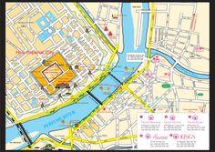 Hue city map from Tigon hostel