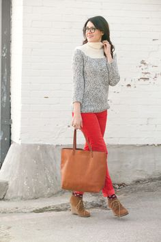 Colored Denim and Winter Knit.