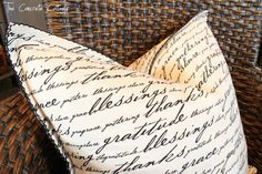 The Concrete Cottage: Pretty Napkins Make Even Prettier Pillows! Weather Channel App, Savvy Southern Style, Concrete, Napkins, Cottage, Crafty, Pillows, Sewing, Craft Ideas