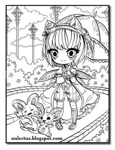 Title Chibi Girls An Adult Coloring Book With Japanese Manga Drawings Magical Fairies