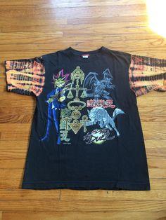 Vintage Yu-Gi-Oh! Bleached Sleeve 90's Anime T-Shirt by VintageVanShop on Etsy